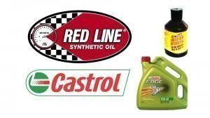 Castrol and Red Line oils